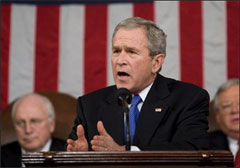 President Bush presents his 2007 State of the Union address