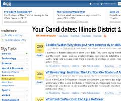 Digg.com usayay2008.digg.com voting interface screenshot