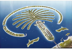 Palm Jumeirah: God's home/headquarters is located on the fifth branch up on the left, fourth frond over