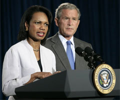 Secretary of State Condoleezza Rice explains President Bush's Fresh New Way Forward plan for Iraq