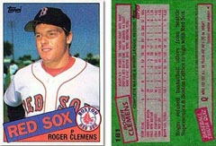 1985 Topps Roger Clemens rookie card in mint condition owned by the nephew of Rep. Elijah Cummings which may or may not increase in value when Roger Clemens is not elected into Cooperstown