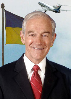 Former President Ron Paul on his return to Dnipropetrovsk Airport, Ukraine